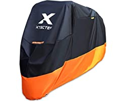 XYZCTEM Motorcycle Cover – All Season Waterproof Outdoor Protection – Fit up to 116 inch Tour Bikes, Choppers and Cruisers –