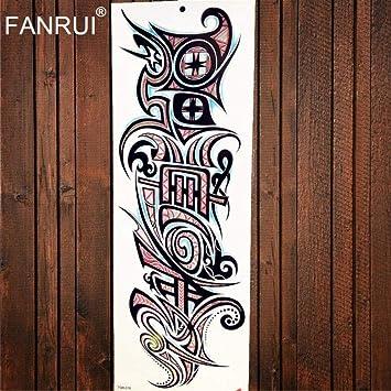 Amazon Com Wolf King Water Transfer Fake Flash Tattoo Arm Sleeve