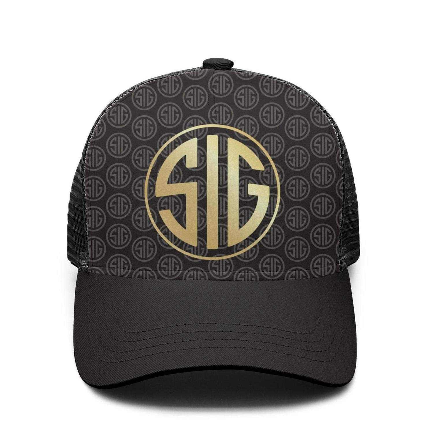 Heart Wolf SIG-Sauer-Flash-Gold-Stereoscopic-Dresses Hat for Mens Womens Dad Hat Adjustable Outdoor Snapback Hat Mersh Cap