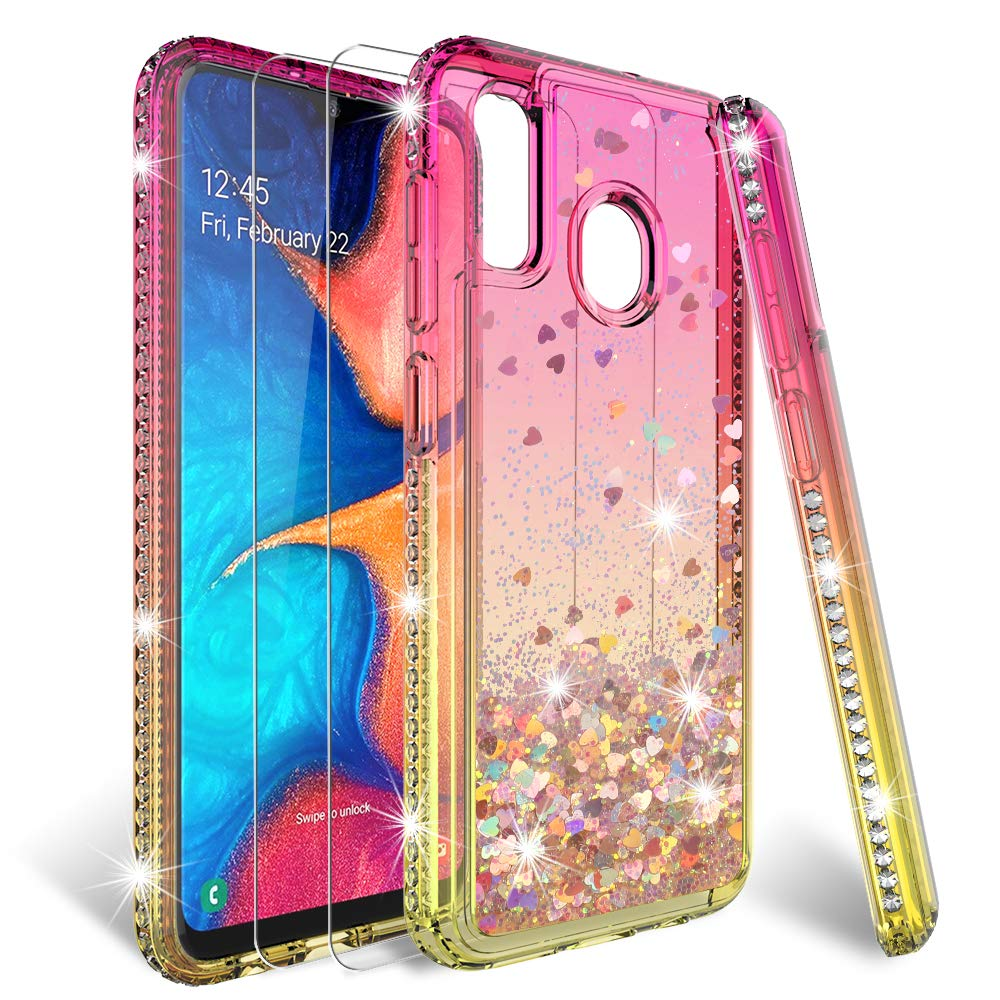 Funda + Vidrio Para Samsung Galaxy A20 / A30 Glitter Hatoshi [7v9rqk8z]