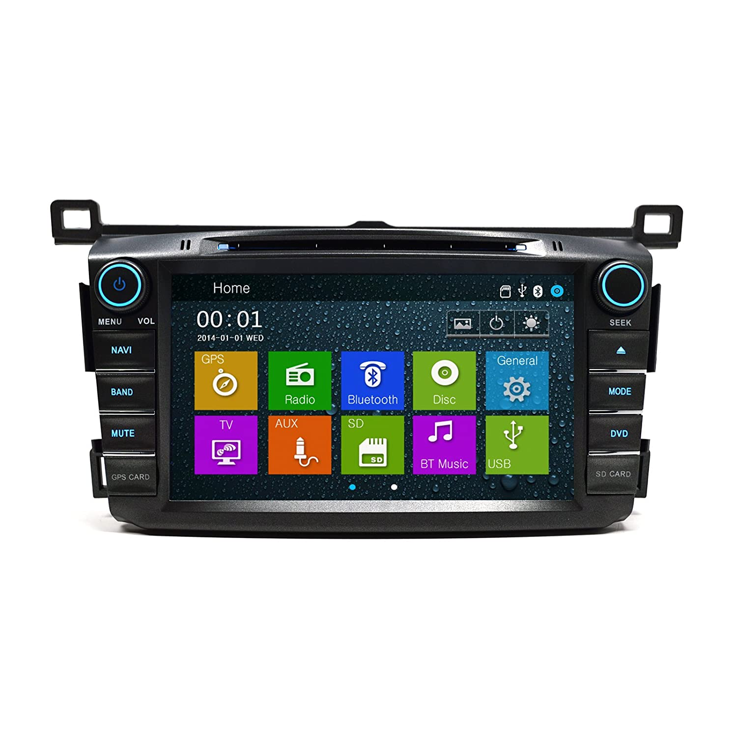 GPS DVD Bluetooth Player In Dash OE Fitment Navigation Radio USB SD Unit  for 2013-2016 Toyota RAV4