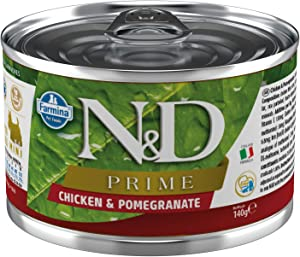 Farmina N&D Prime Chicken and Pomegranate Canned Food for Adult Mini-Breed Dogs 4.9 Ounces, case of 6