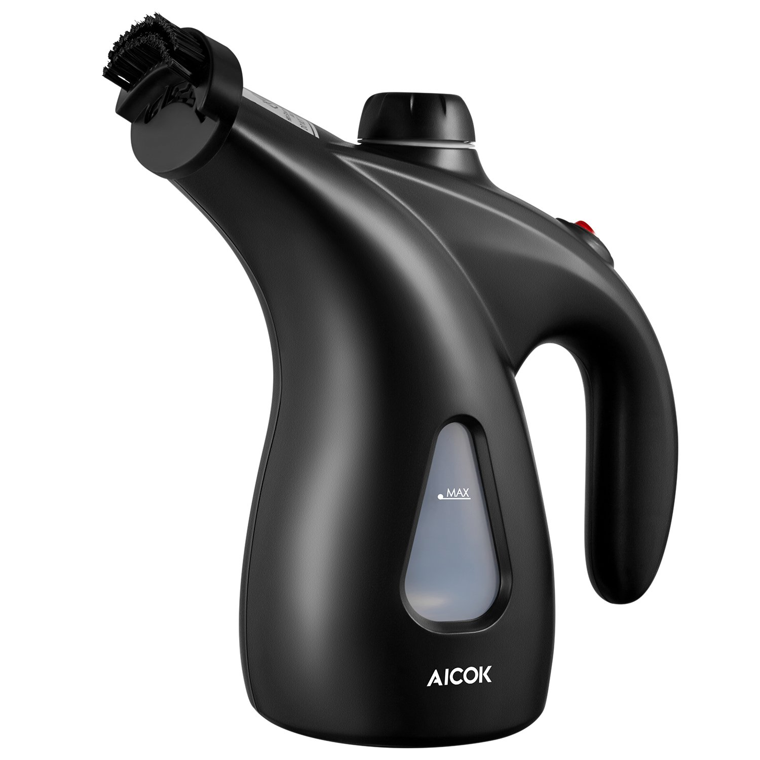 Aicok Garment Steamer, 200ml Portable Clothes Steamer, 900W Powerful Handheld Steamer, Fast Heat-up Clothing Steamer with Brush & Pouch for Home and Travel, Black