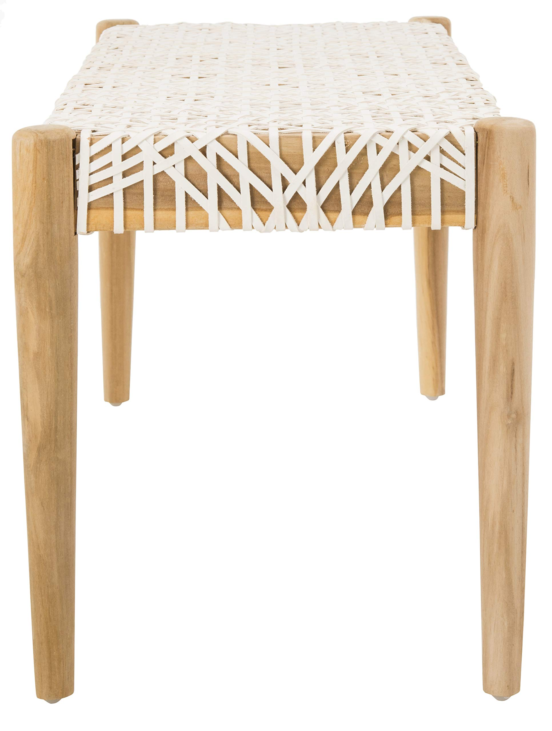 Safavieh BCH1000A Home Collection Bandelier Bench, Off- Off-White/Natural by Safavieh (Image #5)