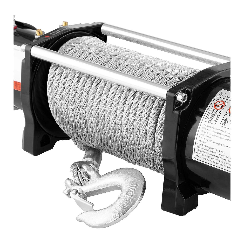 MSW Elektrische Seilwinde Seilzug Offroad Motorwinde PROPULLATOR 4500-B Zugleistung: 2.040 kg // 4.500 lbs, Permanentmagnetmotor, 12,5 m Seill/änge, Trommelgr/ö/ße: /Ø 41 mm