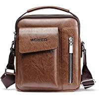 Genuine Leather Men Messenger Bag Shoulder Bags for Mens Everyday Casual Handbag