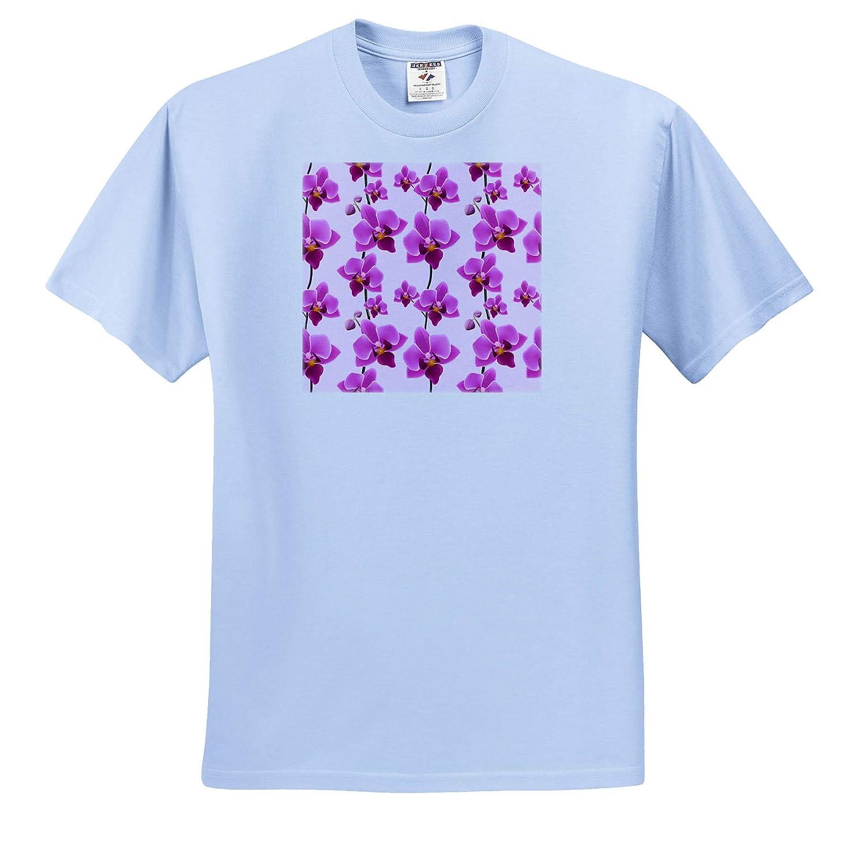 Many Purple Orchid Flowers Blossom Exotic Adult T-Shirt XL 3dRose Sven Herkenrath Flower ts/_310972