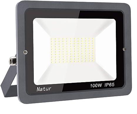100W LED Fluter mit Stecker Außen Flutlicht Strahler Scheinwerfer Lampe Weiß DHL