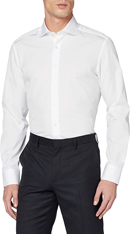 Hackett London Poplin Slim BC Camisa para Hombre
