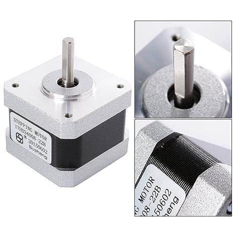 Nema 17 Motor Pasos 2 Fases 4 Cables 1.8° 42 × 42 * 34mm Para ...
