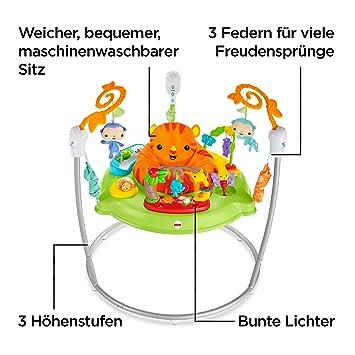 blau//gr/ün 1915 Babymix Baby Hopser mit Musik und Trampolin 360 Grad drehbar und h/öhenverstellbar