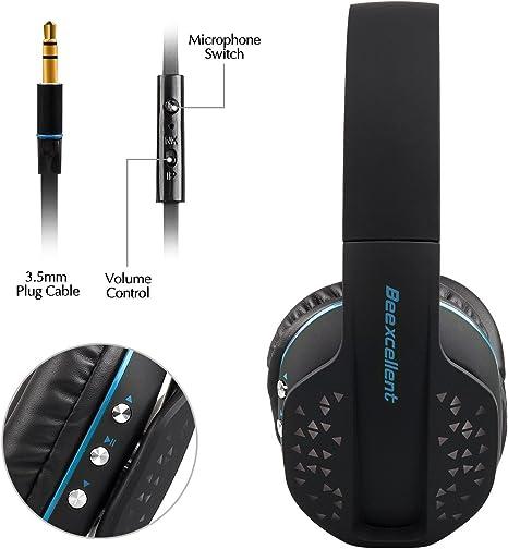 sinbide® Auriculares inalámbricos Hi-Fi inalámbrico auriculares ...
