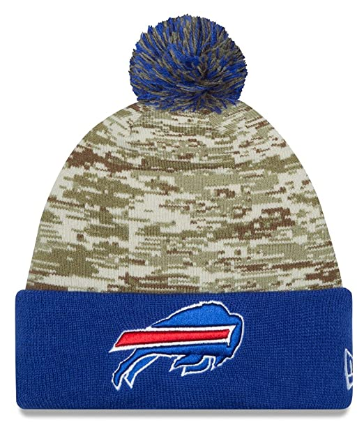 newest 6184e 8cf76 New Era Men's NFL 2015 Buffalo Bills Salute to Service Knit ...