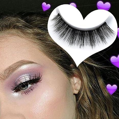 10 Pares De Pestañas Falsas 3D Hecho A Mano Natural Largo Glamour Pestañas Herramientas De Maquillaje
