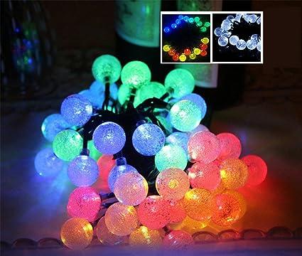 Solalight 30LED 6M Solar Balls String Light Outdoor Waterproof LED Lights  Decorative For Christmas / Garden