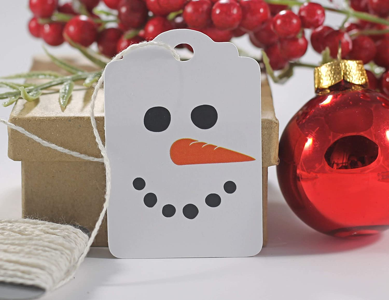 B0167P4WYG Snowman Christmas Gift Tags - Holiday Labels (Set of 10) 717WhB4IcrL