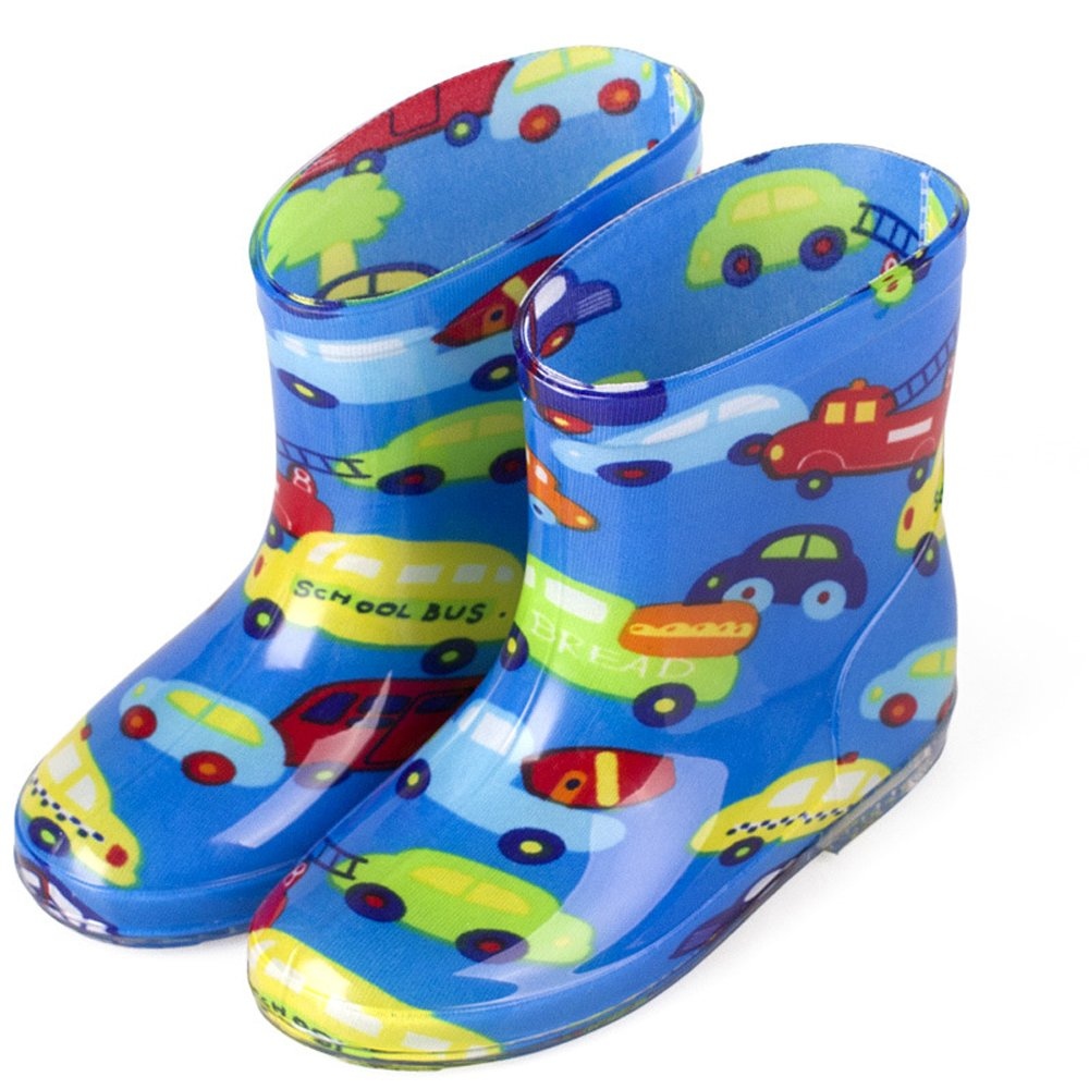 ZEVONDA Boy and Girl Non-Slip Anti-Collision Water Shoes Multicolor Rain Boots