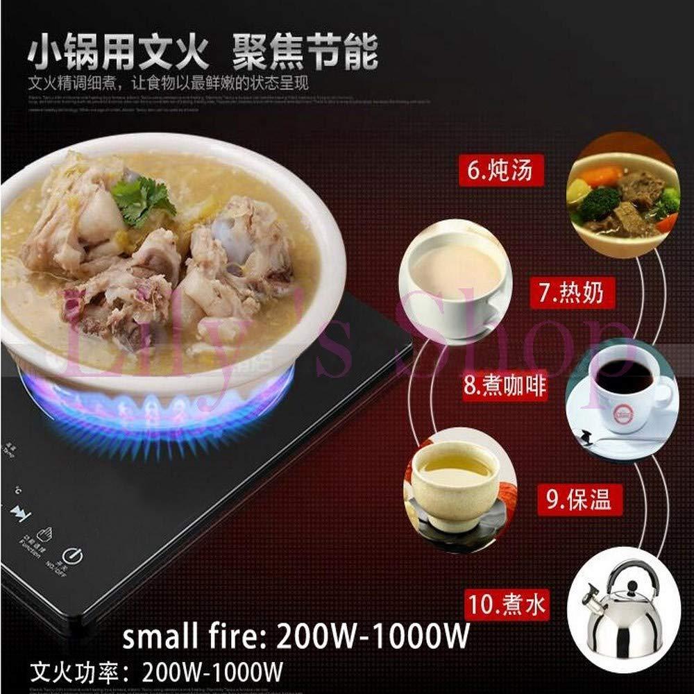 XIAOKUOAI Mini estufa de cerámica eléctrica para el hogar Caldera de agua de leche caliente Encimera de estufa de quemador de encimera Olla de inducción de ...