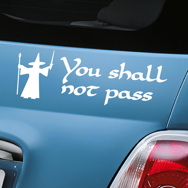 """You Shall Not Pass Blanc Voiture en Gandalf Sticker fenêtre en vinyle–une seule P & P Charge par """"Aerialballs Commande. Économisez de l'argent en achetant 2ou plus de nos nombreux"""