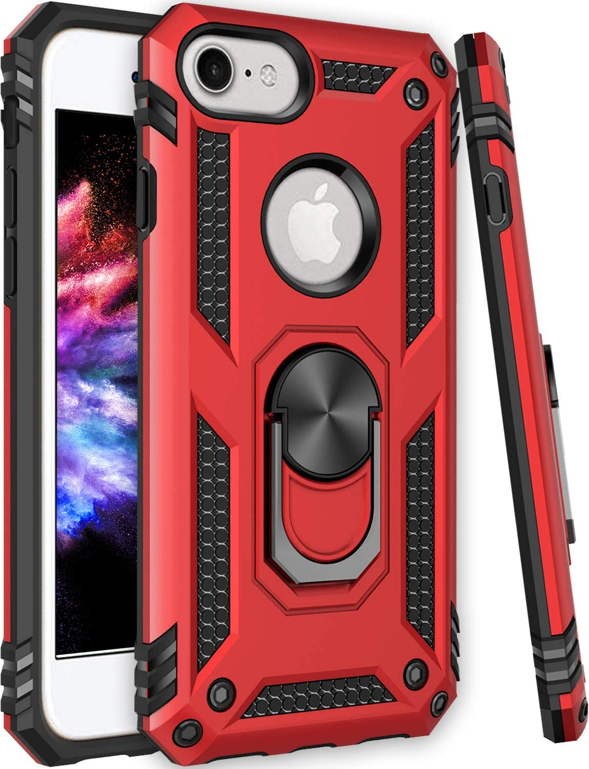 iPhone SE2 Case,iPhone 6 6s Case,iPhone 7 Case,iPhone 8 Case,ZADORN 15ft Drop Tested Military Grade Shockproof Slim Fit Protective Phone Case for iPhone SE2/iPhone 6 6S/iPhone 7/iPhone 8 Red