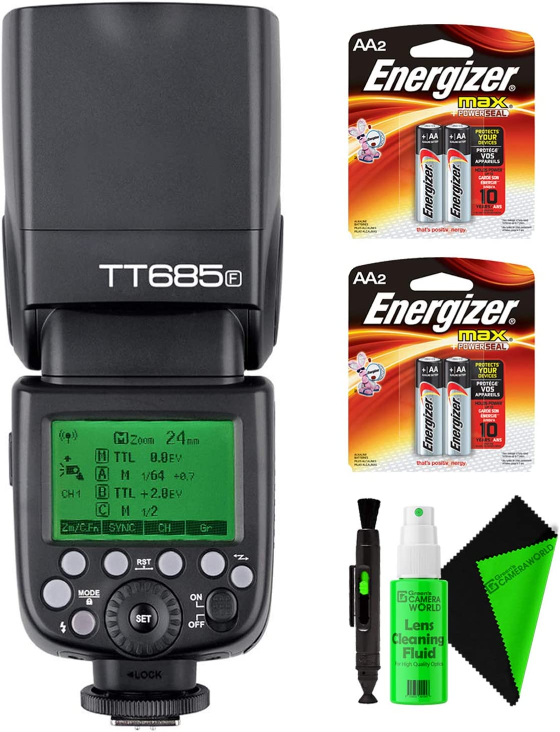 Godox TT685F Thinklite TTL Flash for Fujifilm Cameras Camera Flash Speedlite Bundle