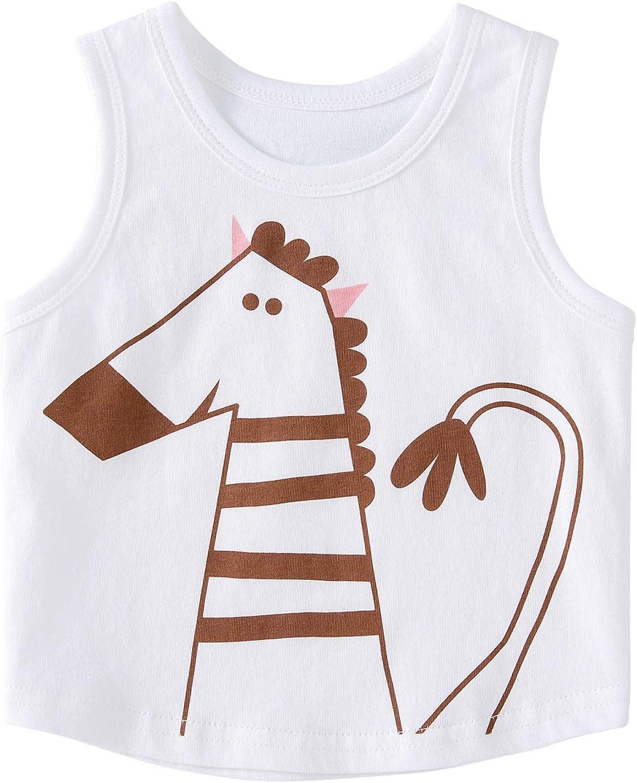 pureborn 2 Pack Toddler Boys Girls Tank Tops T-Shirt Sleeveless Outfit