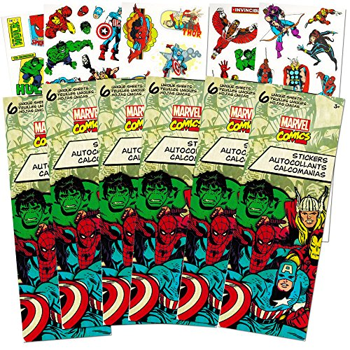 Marvel Heroes Avengers Stickers Party Favor Pack, 660+ (Hulk Party Favors)
