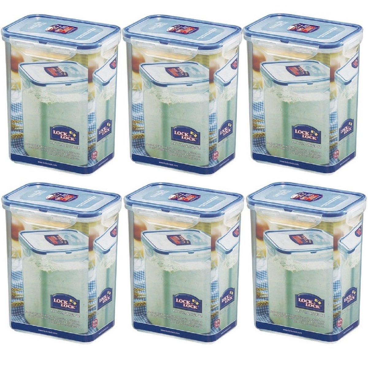 & Lock Lock-Set di contenitori per alimenti, 6/HPL 813s6 1,8 x 6 l Lock & Lock lock_lock_hpl_813_6