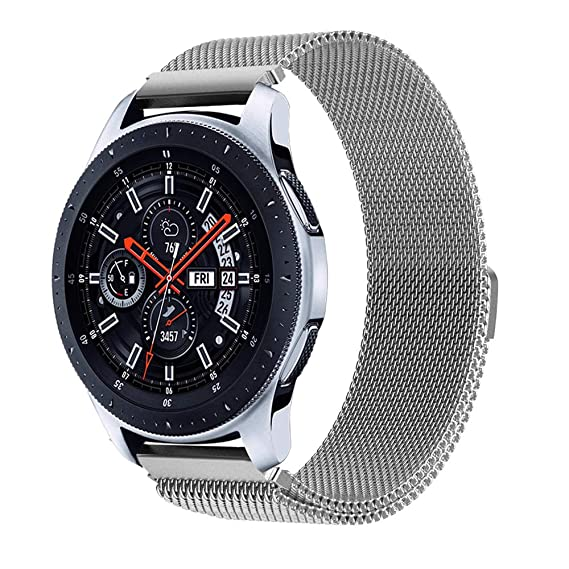 Galaxy Watch 46mm Bands, Gear S3 Bands, Wingle 22mm Universal Replacement Strap w/Quick Release Pin Magnetic Closure Compatible for TicWatch ...