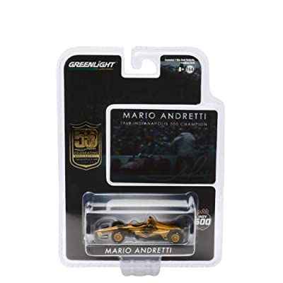 Indy Car Mario Andretti 50th Anniversary 1969 Indianapolis 500 Champion Dallara Universal Aero Kit Tribute IndyCar 1/64 Diecast by Greenlight 10853: Toys & Games