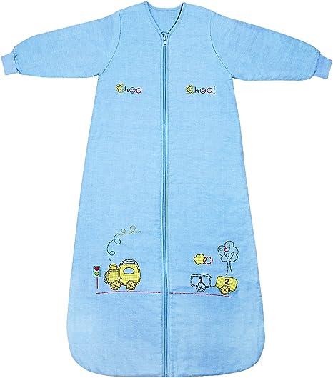 Slumbersac Saco de dormir niño pequeño Invierno manga larga aprox. 3.5 Tog, trenecito, 3-6 años/130 cm: Amazon.es: Bebé