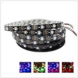 GreenICE LED Pixel-Streifen-Licht Individuell Ansteuerbaren WS2812B WS2811 IC 150Leds 30eds/m 5050 SMD RGB farben 5V DC ( 5Meter/roll,nicht wasserdicht IP33) (Schwarz PCB Board)