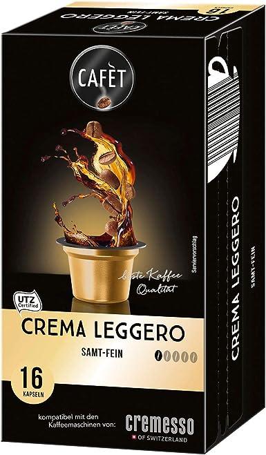 Cafet para Cremesso, Crema Leggero 16 cápsulas: Amazon.es ...