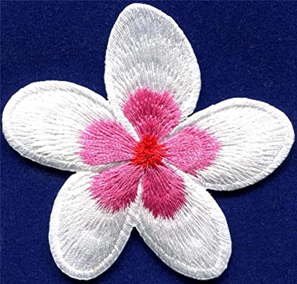 5bea2dded0 Plumeria Flower Dogbane Boho Retro Sew Sewing Applique Iron-on Patch New  S-695 Free Shipping