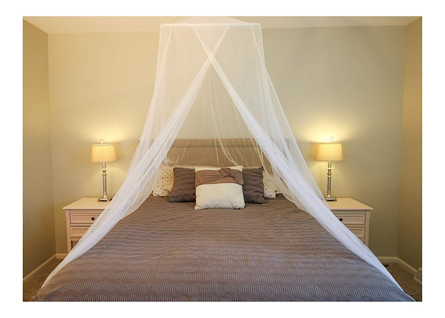 AIFUSI Mosquito Net for Single to King Size Bedroom by Quick and Easy Installation System Protection for Any Outdoor Indoor Derocate Lover