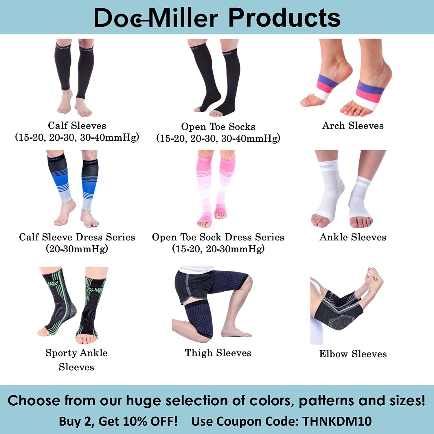 Doc Miller Ankle Brace Wrap Compression Sleeve Women Men Pair Comfortable Adjustable Elastic Support Straps for Plantar Fasciitis Sprain Foot Joint Tendon Pain Relief Achilles Tendonitis Sports