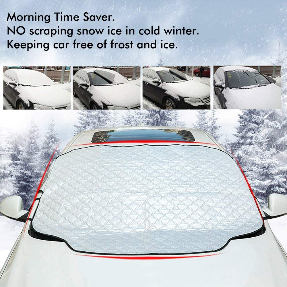 Blocks UV Rays Sun Visor Protector MASO Car Sun Shade Universal Car Front Window Sunshades Fits Windshields Size 130 * 70cm Sunshade To Keep Your Vehicle Cool And Damage Free