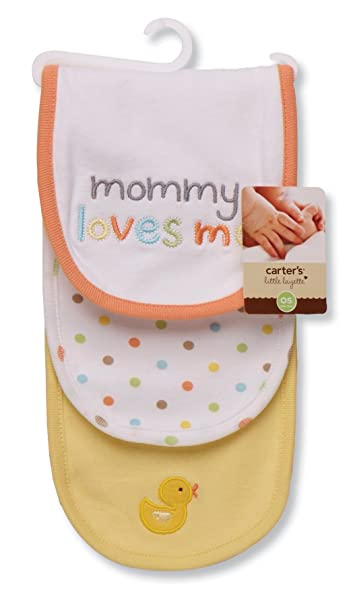 Carters 3 Piece Burp Cloth, Mommy Loves Me Duck