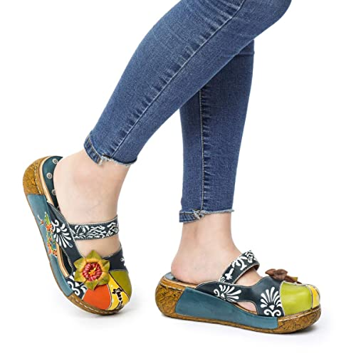 69eca84e2880a gracosy Summer Platform Sandals Shoes Women s Leather Slippers ...