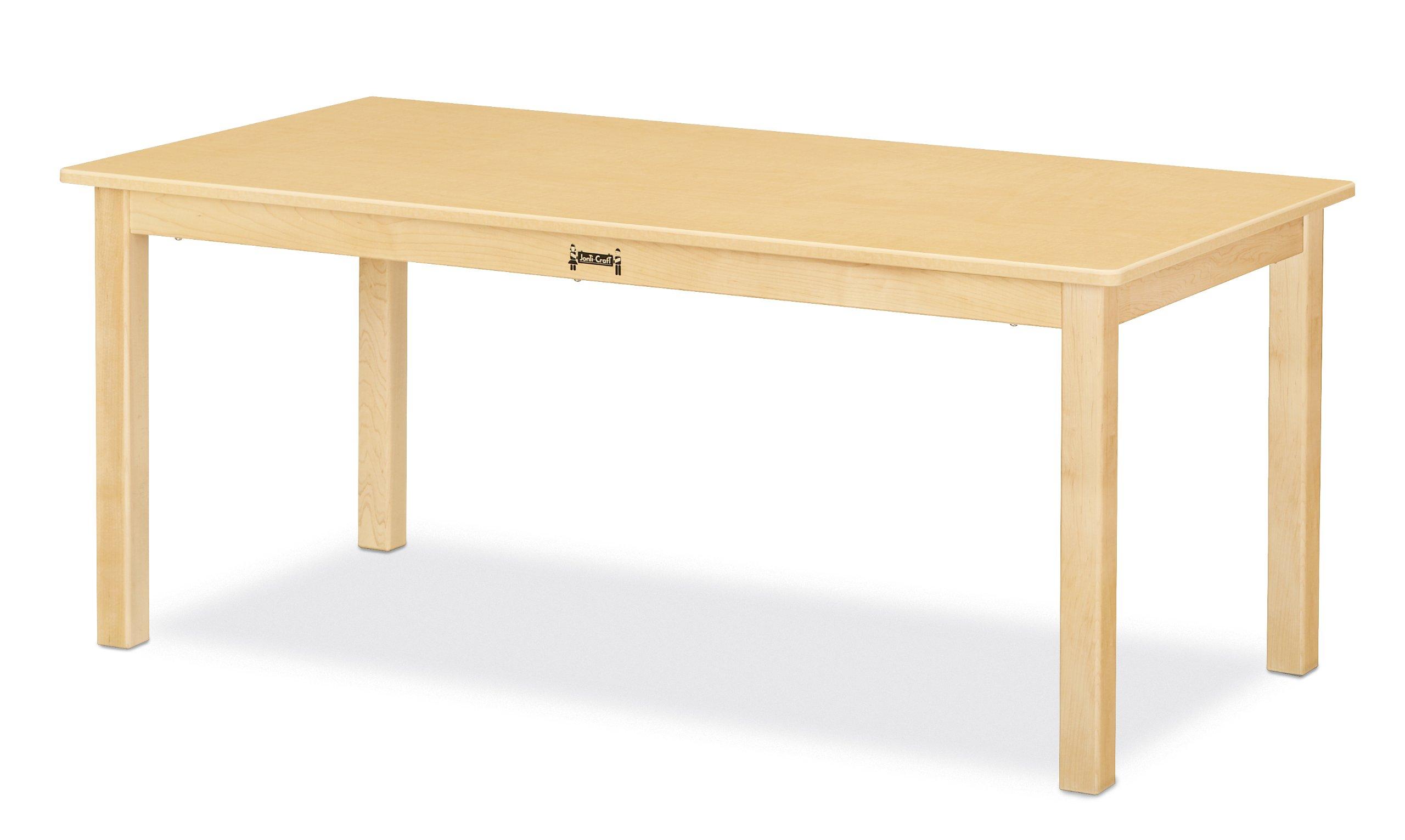 Jonti-Craft 56824JC Multi-Purpose Large Rectangle Table, 24'' High, Maple