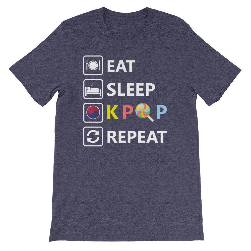 Eat Sleep K Pop repeat Premium Unisex T-Shirt edgyshop K Pop
