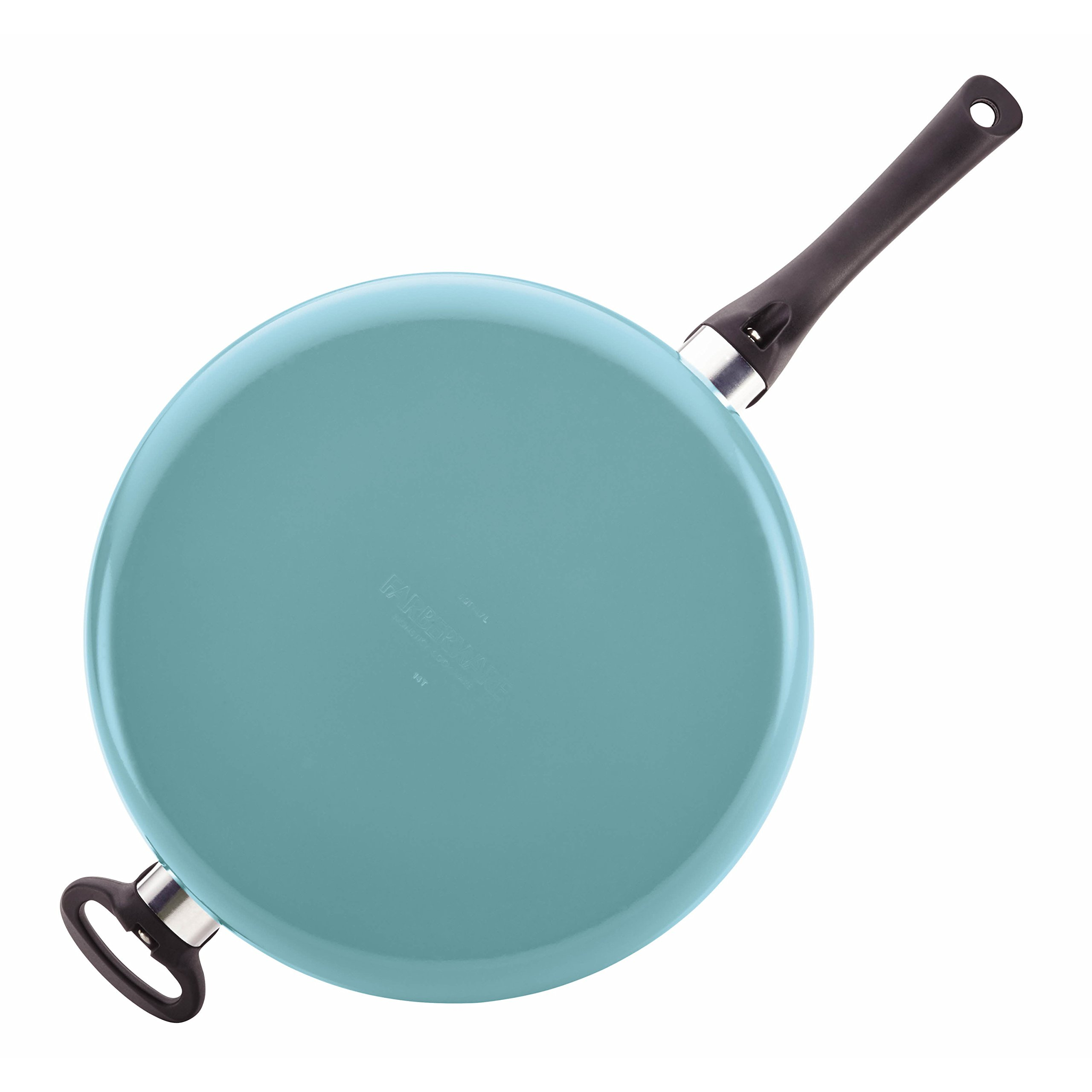 Farberware PURECOOK Ceramic Nonstick Cookware 5-Quart Covered Jumbo Cooker with Helper Handle, Aqua by Farberware (Image #5)