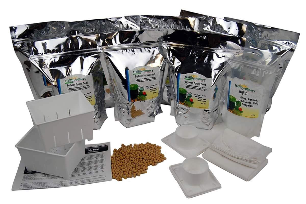 Vegan Food Storage Tofu Kit - Makes 20 Lbs of Organic Vegetarian Tofu - Perfect Addition to Emergency Survival Supply by Handy Pantry