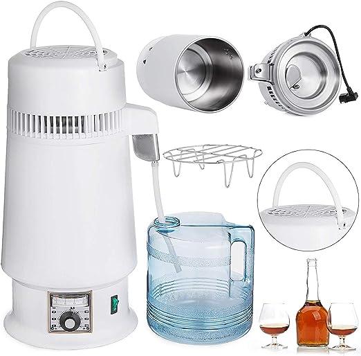 DCHOUSE destilador de agua de 4 l, destilador de agua de 750 W, purificador de destilación de agua de acero inoxidable (diseño mejorado): Amazon.es: Hogar