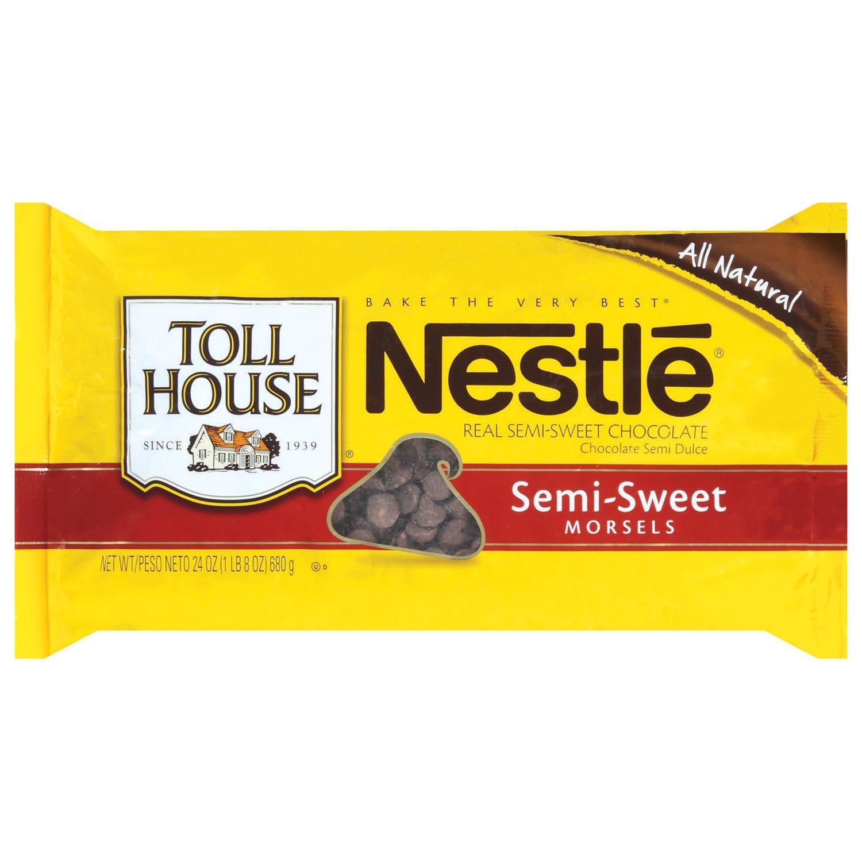 Amazon.com : Nestle Toll House Semi Sweet Chocolate Morsels, 24 ...