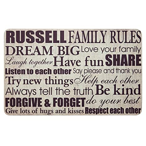 Amazon.com  Personal Creations - Personalized Gifts Family Rules Doormat - Cream  Garden u0026 Outdoor  sc 1 st  Amazon.com & Amazon.com : Personal Creations - Personalized Gifts Family Rules ...