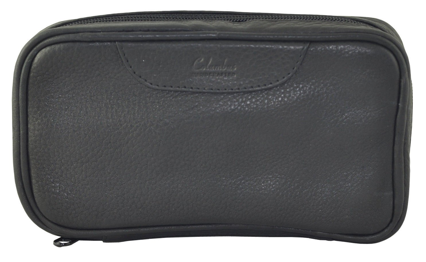 Columbus Two Pipe Travel Case Pipe Pouch - Black