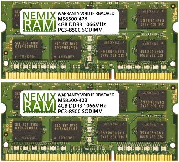 8GB 2X4GB NEMIX RAM Memory for Apple MacBook Pro Late 2008-2010