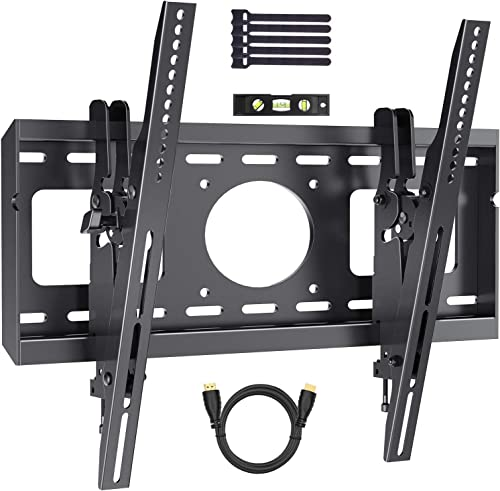 Advanced Tilting TV Wall Mount Bracket with Low Profile Design for Most 26-55 Inch LED, LCD, OLED, Curved, Plasma Flat Screen TVs – 15 Degrees Tilt Mounting Bracket with VESA 400x400mm by PERLESMITH