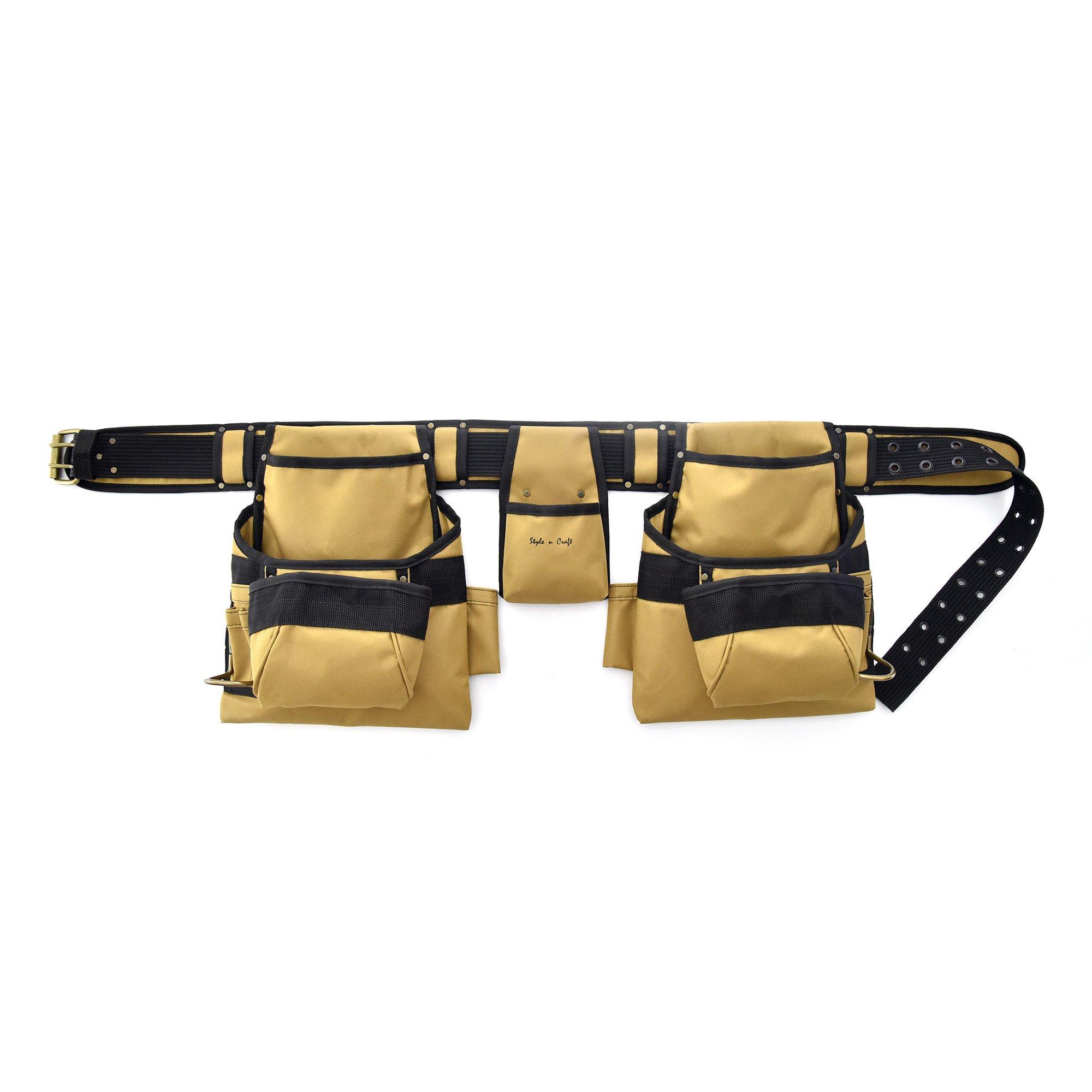 Style N Craft 76-422 Heavy Duty 600D Polyester 15 Pocket Tool Belt